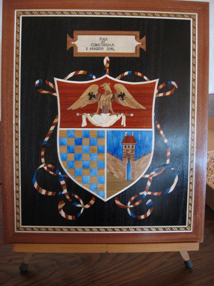 Gemaltes Wappen zum Jubiläum