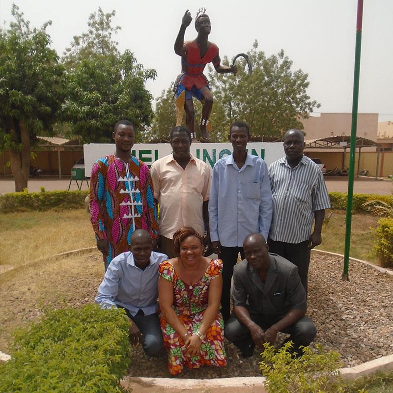 Die Mitglieder des Patenschaftskomitees aus Koudougou um Herrn DIAKITÉ (Vorsitzender)