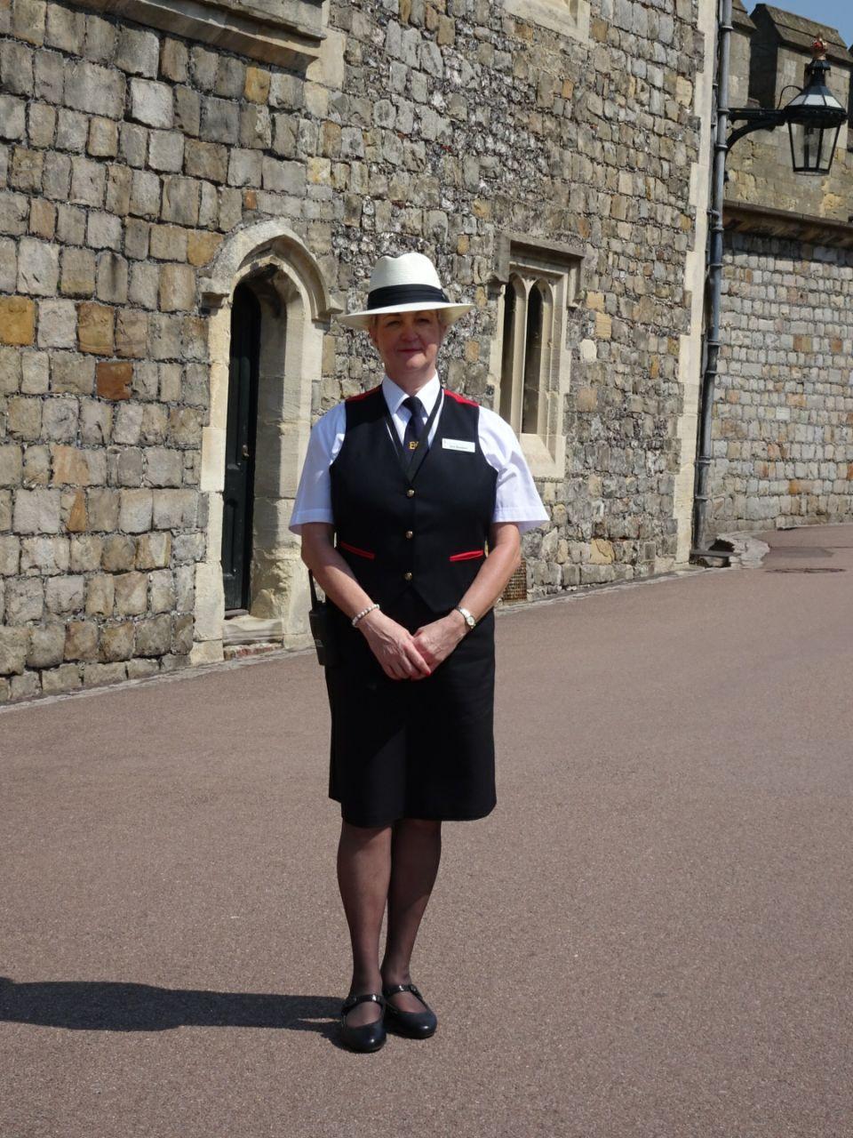 Britische Burgwächterin